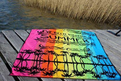 ręcznik bawełniany plażowy COCO negro