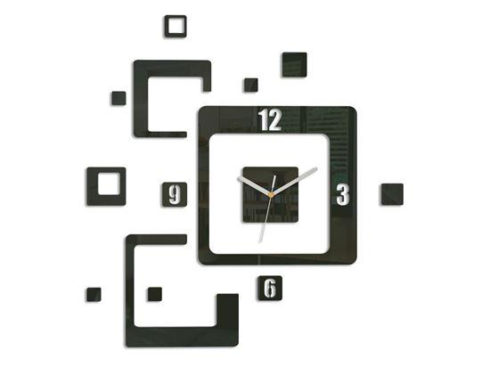 Zegar ścienny Trio czarny