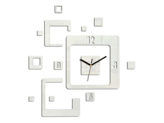 Zegar ścienny Trio biały