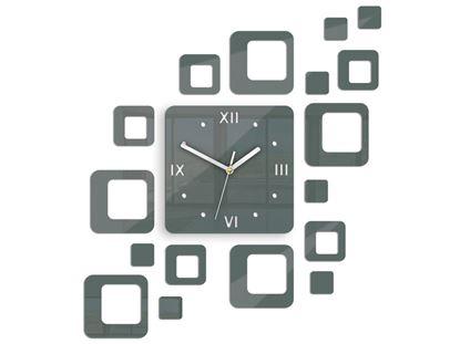 Zegar ścienny Rome szary