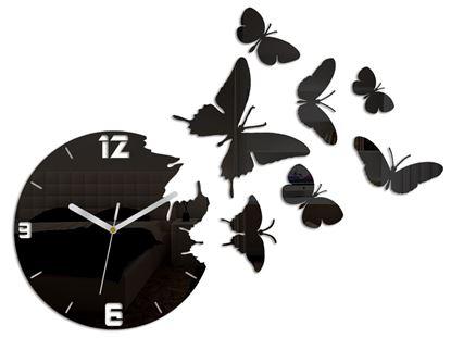 Zegar ścienny Motyle Black