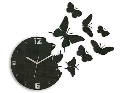 Zegar ścienny Motyle Wenge