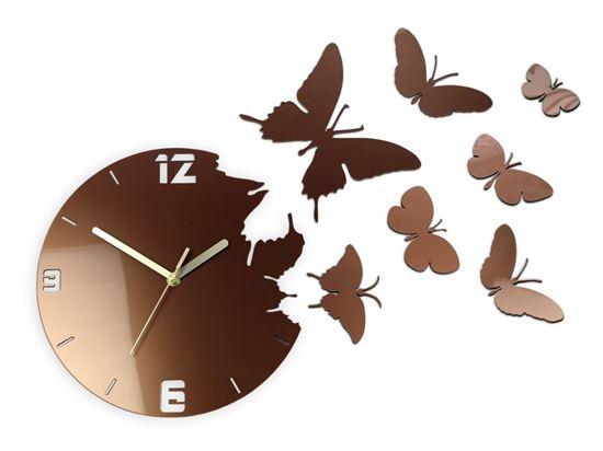 Zegar ścienny Motyle Copper
