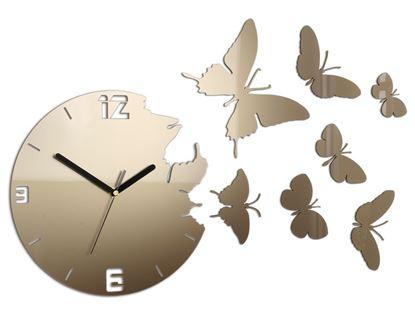 Zegar ścienny Motyle Tortora