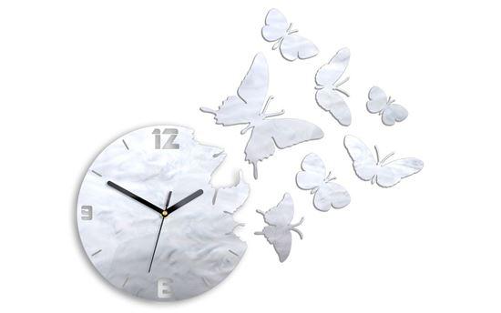 Zegar ścienny Motyle Nacre Gray