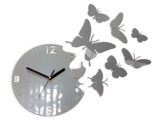 Zegar ścienny Motyle Met Aluminum