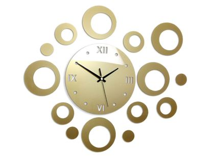 Zegar ścienny Ring złoty