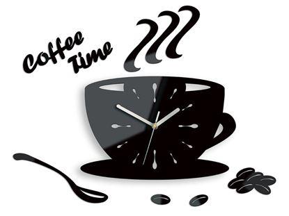 Zegar ścienny Coffe Time Black