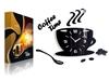 Zegar ścienny Filiżanka 3D - CZARNA