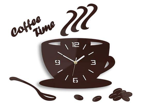 Zegar ścienny Coffe Time 3D Burgundowa