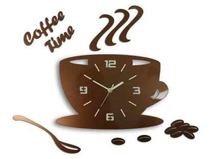 Zegar ścienny Filiżanka 3D Copper