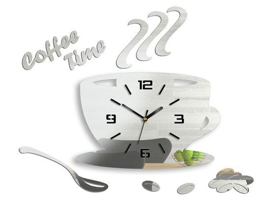 Zegar ścienny Filiżanka 3D LUSTRO