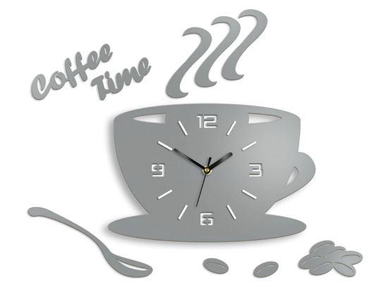 Zegar ścienny Filiżanka 3D - SZARY KAMIEŃ