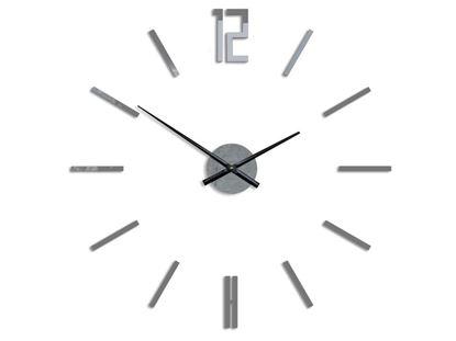 Zegar ścienny Carlo szary