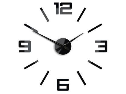 Zegar ścienny Silver XL Czarny