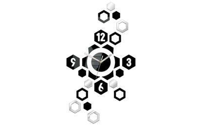 Zegar ścienny Hexgaon