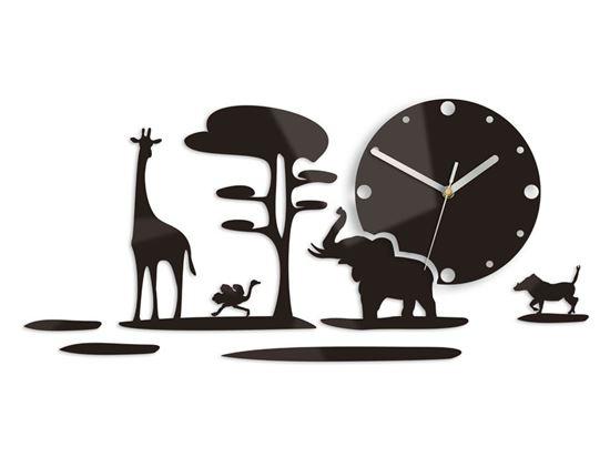 Zegar ścienny Safari Wenge