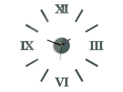 Zegar ścienny Numero Szary