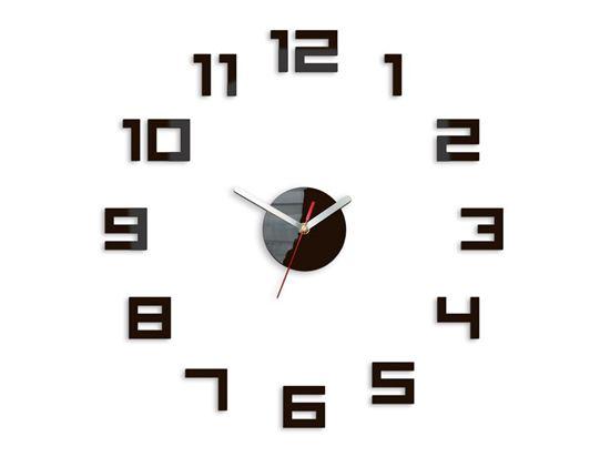 Zegar ścienny Digit Wenge