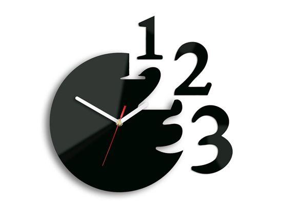 Zegar ścienny Cyfry Raz, Dwa, Trzy