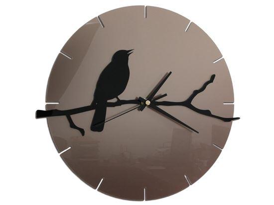 Zegar ścienny Ptak na gałęzi - Tortora & Black