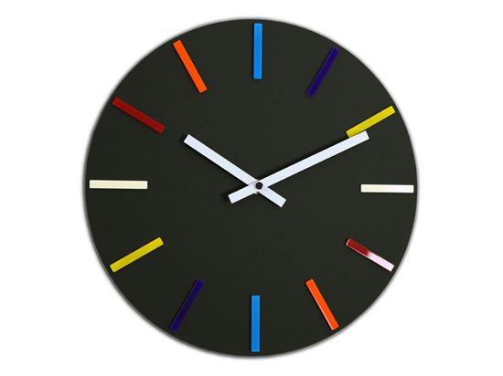 Zegar ścienny Colorfull Czarny
