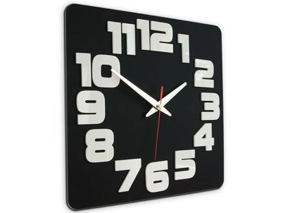 Zegar ścienny Logic Czarno&Biały