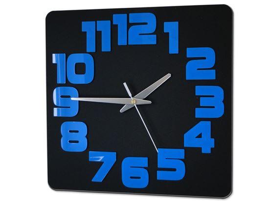 Zegar ścienny Logic Czarno&Niebieski