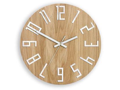 Zegar drewniany Slim Biały