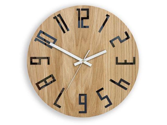 Zegar drewniany Slim Czarno-Biały