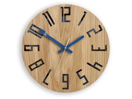 Zegar drewniany Slim Czarno - Granatowy