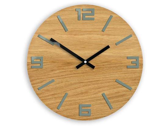 Zegar drewniany Arabik Szary