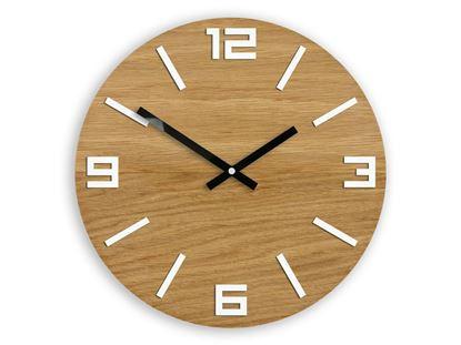 Zegar drewniany Arabik Biały