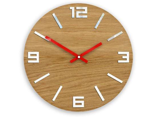 Zegar drewniany Arabik Biało-Czerwony