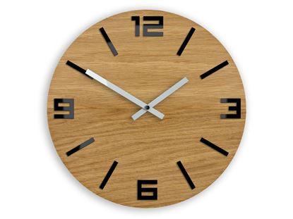Zegar drewniany Arabik Czarny