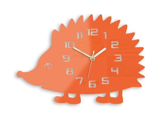 Zegar ścienny Jeż pomarańczowy
