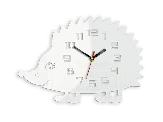 Zegar ścienny Jeż Biały