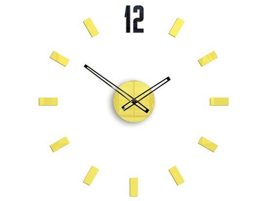 Zegar ścienny POINT Żółty