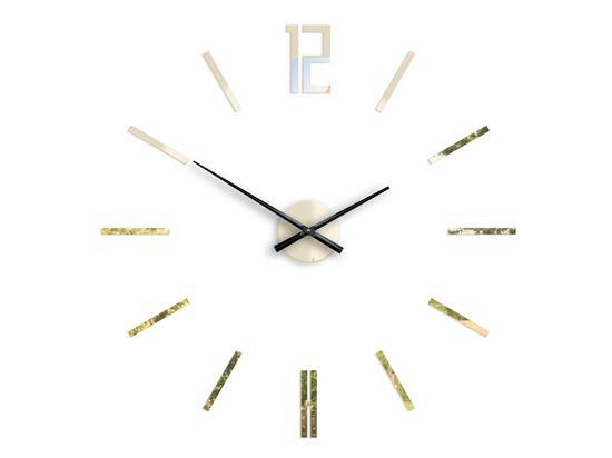 Zegar ścienny Carlo Złote Lustro