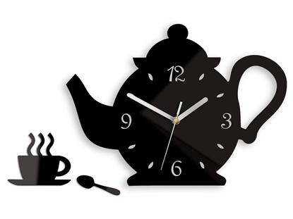 Zegar ścienny Czajnik Black