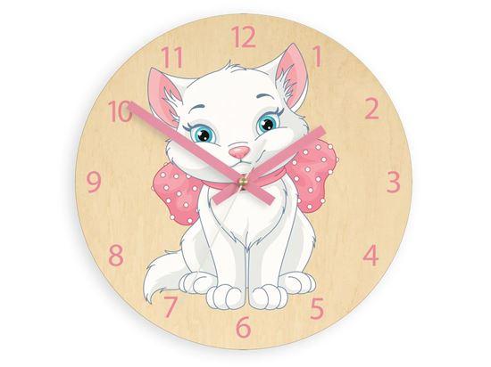 Zegar scienny Rózowy kotek