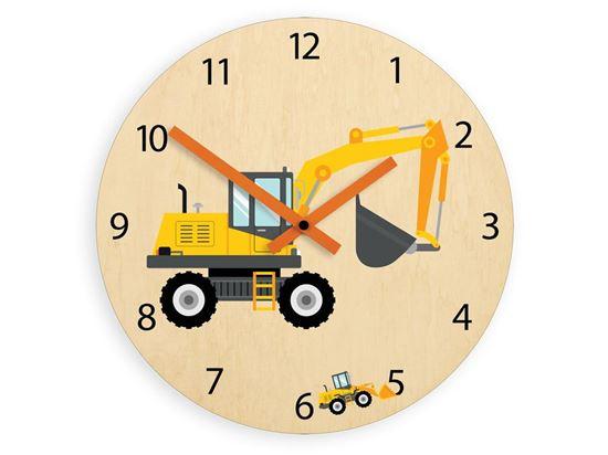 Zegar ścienny Koparka