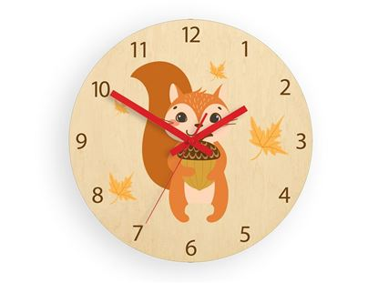 Zegar ścienny Wiewiórka