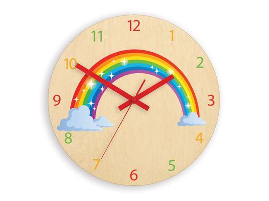 Zegar ścienny Tęcza