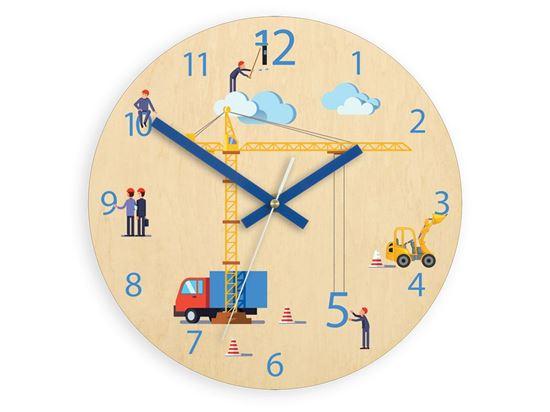 Zegar ścienny Dzwig