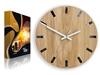 Zegar ścienny Drewniany Dąb SIMPLE BLACK&WHITE