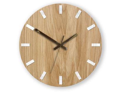 Zegar ścienny Dąb SIMPLE Biało - Brązowy