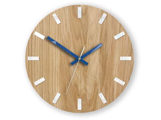 Zegar ścienny Dąb SIMPLE Biało - Granatowy