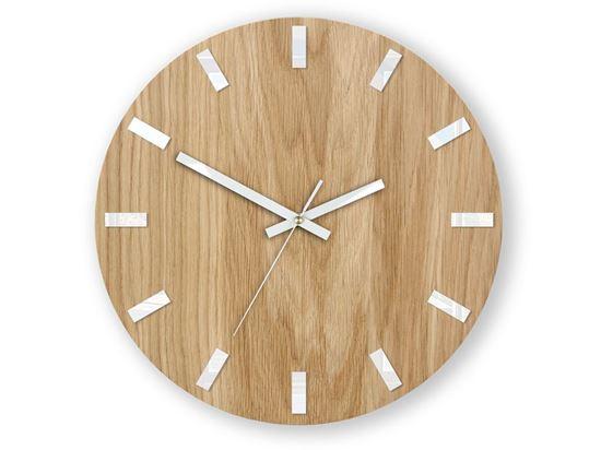Zegar ścienny Dąb SIMPLE Biały