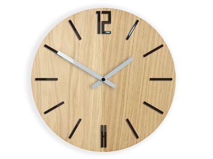 Zegar scienny Drewniany Carlo Czarny